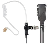 <b><span style='color: red;'>MIRAGE&trade; Series </span></strong>- SPM-1300 - Surveillance Kit , Lapel Mic Style (1-wire) with Noise Reducing Mic element and Clear Tube Earphone..</strong></p>