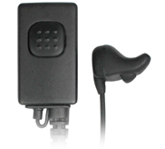 <b>NEP-BH Series - Ear Bone Microphone/Headset </b>- Vibration Mic picks up sound directly from Ear Canal. Covert, also reduces background noises.</p>