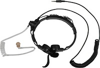 <b>GLADIATOR SPM-1599</b> - Heavy Duty Throat Microphone for CELLPHONES and TABLETS. Dual microphone elements pick up sound directly from users throat, so very little ambient noise is heard.